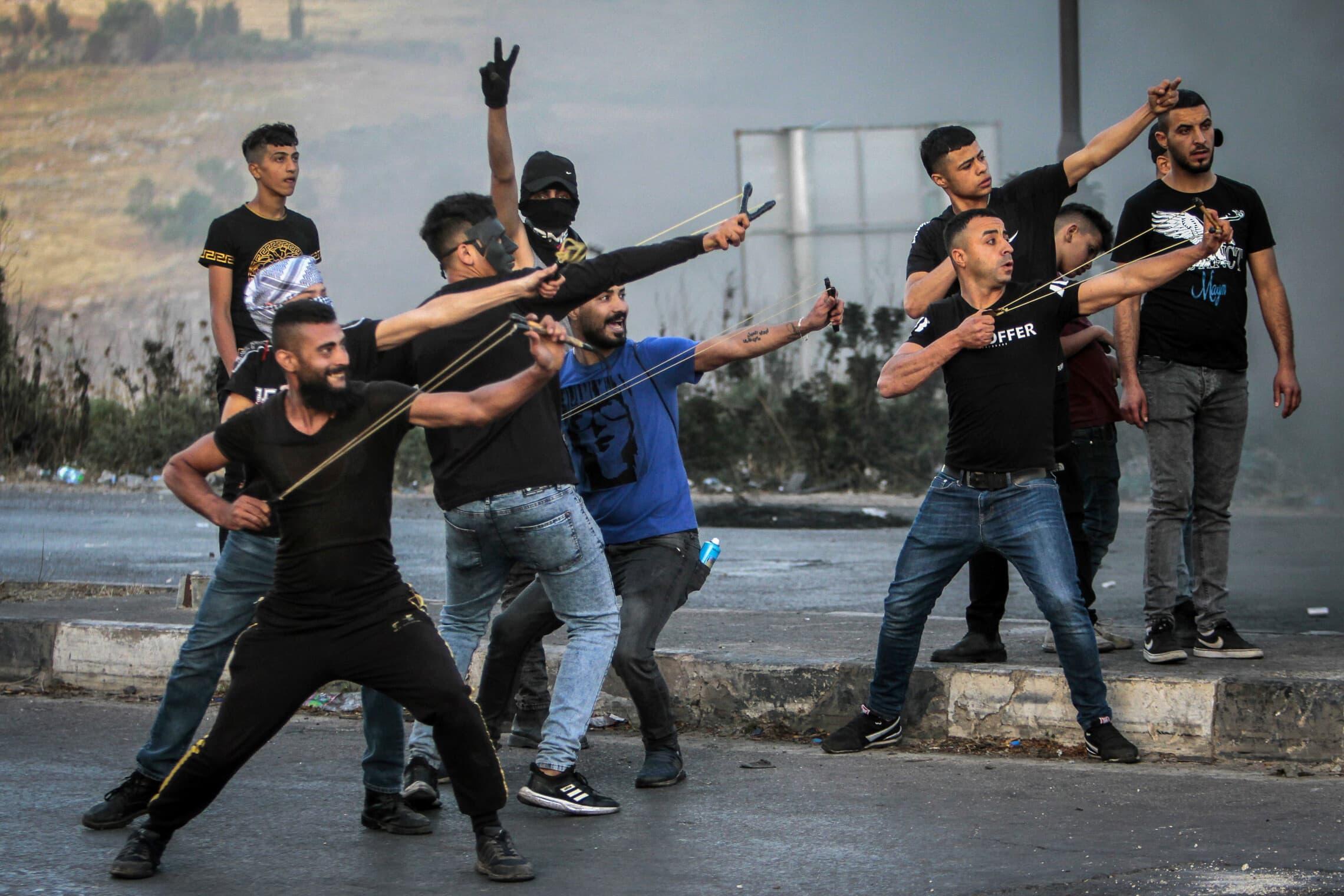 מהומות אלימות בין פלסטינים לכוחות הביטחון בחודש מאי 2021, אילוסטרציה (צילום: Nasser Ishtayeh/Flash90)