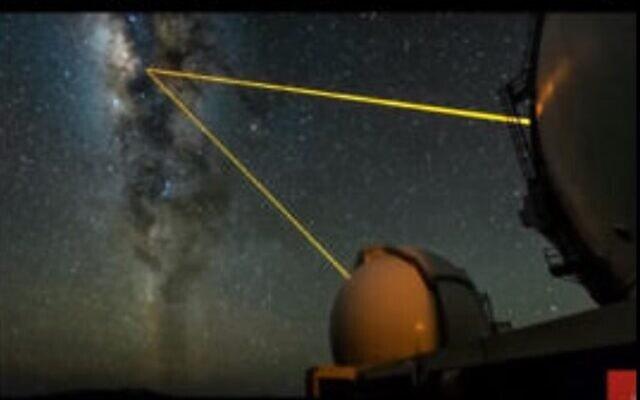 זוג טלסקופי החלל של אנדריאה גאז צופים לחור השחור שבמרכז גלקסית שביל החלב מאוניברסיטת קליפורניה של לוס-אנג'לס UCLA. צילום מסך מיוטיוב