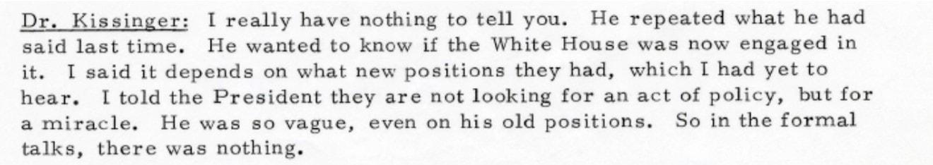 פרוטוקולי פגישות רגישים, קיסינג'ר, רבין ודיניץ (צילום: מפגש קיסינג'ר ודיניץ, 2 ביוני , 1973)