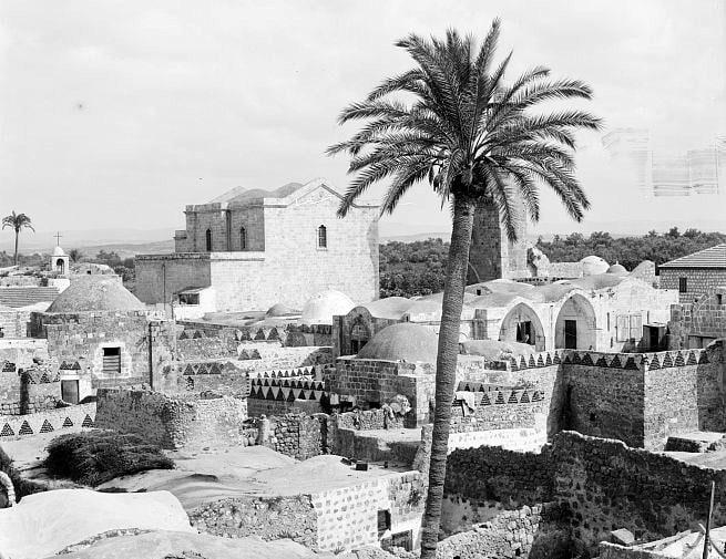 כנסיית גאוריוס הקדוש קוטל הדרקון בתחילת המאה ה-20 (צילום: American Colony (Jerusalem) Photo Dept)