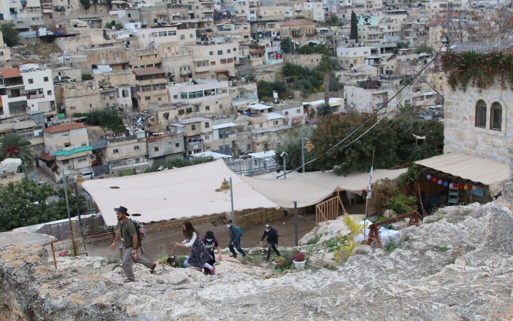 האזור בעיר דוד שאותו ביקש הברון אדמונד דה רוטשילד מהארכיאולוג ריימונד וייל לחפור (צילום: שמואל בר-עם)