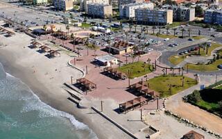 חוף קריית חיים אחרי סיום העבודות (צילום: עיריית חיפה)