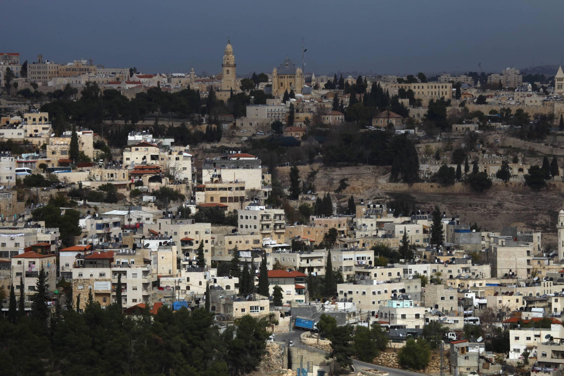 שכונת אבו תור בירושלים (צילום: נתי שוחט/פלאש90)