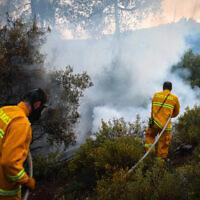 שרפות בעוטף עזה, 10 במאי 2021 (צילום: יוסי זמיר/פלאש 90)