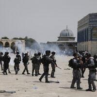 מהומות בהר הבית, 21.5.2021 (צילום: ג'מאל עוואד, פלאש 90)