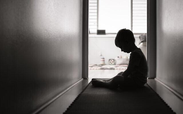 ילד בדיכאון, אילוסטרציה (צילום: iStock / kieferpix)