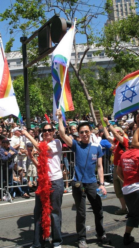 חברי הקהילה היהודית בסן פרנציסקו, שם הגיוון האתני גבוה במיוחד (צילום: JFNA)