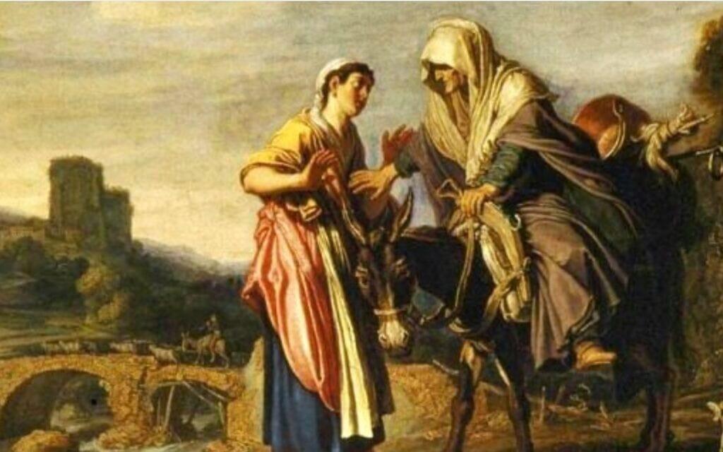 רות ונעמי. איור: Pieter Lastman, 1624