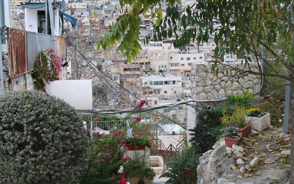 הנוף לסילואן מבית מיוחס בעיר דוד (צילום: שמואל בר-עם)