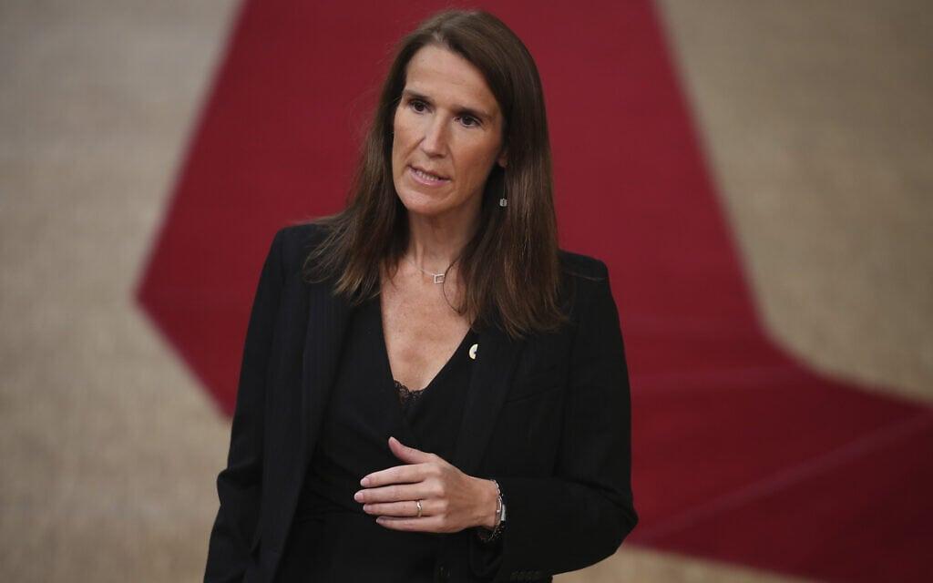 ראשת ממשלת בלגיה סופי וילמס (צילום: AP Photo/Francisco Seco)