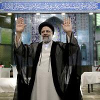 הנשיא הנבחר של איראן, אבראהים ראיסי (צילום: AP Photo/Ebrahim Noroozi)