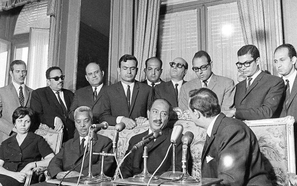נשיא מצרים אנואר סאדאת ב-1970 (צילום: AP Photo/Michel Laurent)