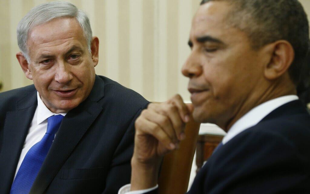 ברק אובמה ושבנימין נתניהו בבית הלבן, 2013 (צילום: AP Photo/Charles Dharapak)