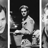 משמאל: מנפרד גנס, פיטר מאסטרס וקולין אנסון (צילום: באדיבות USHMM ומשפחת אנסון)