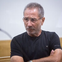 מאיר אברג׳יל בבית המשפט ביולי 2018 (צילום: Miriam Alster/Flash90)
