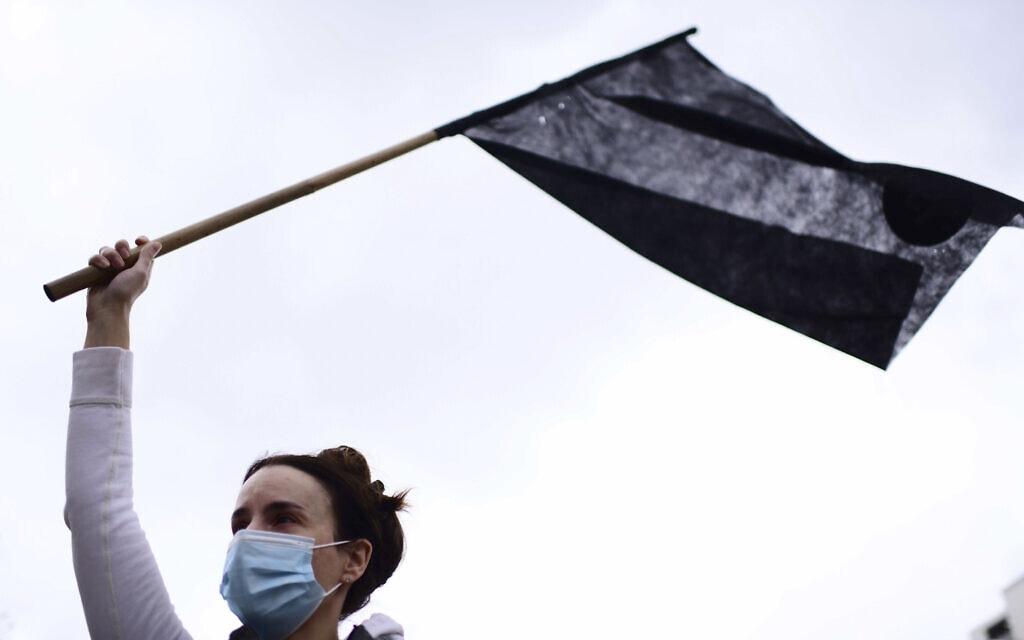 הפגנת מחאה נגד נתניהו (צילום: Tomer Neuberg/Flash90)
