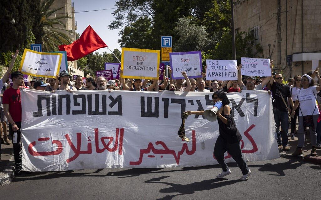 הפגנות בשייח' ג'ראח, 11 ביוני 2021 (צילום: אוליבייה פיטוסי/פלאש90)