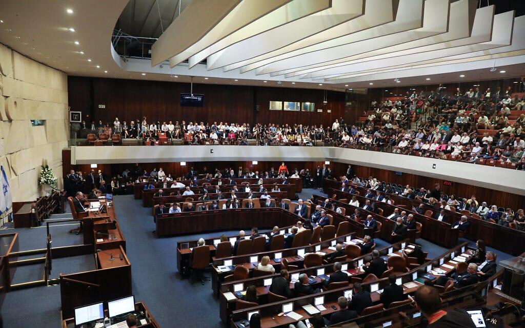 ישיבת השבעת הממשלה ה-36 במליאת הכנסת, 13 ביוני 2021 (צילום: אוליבייה פיטוסי/פלאש90)