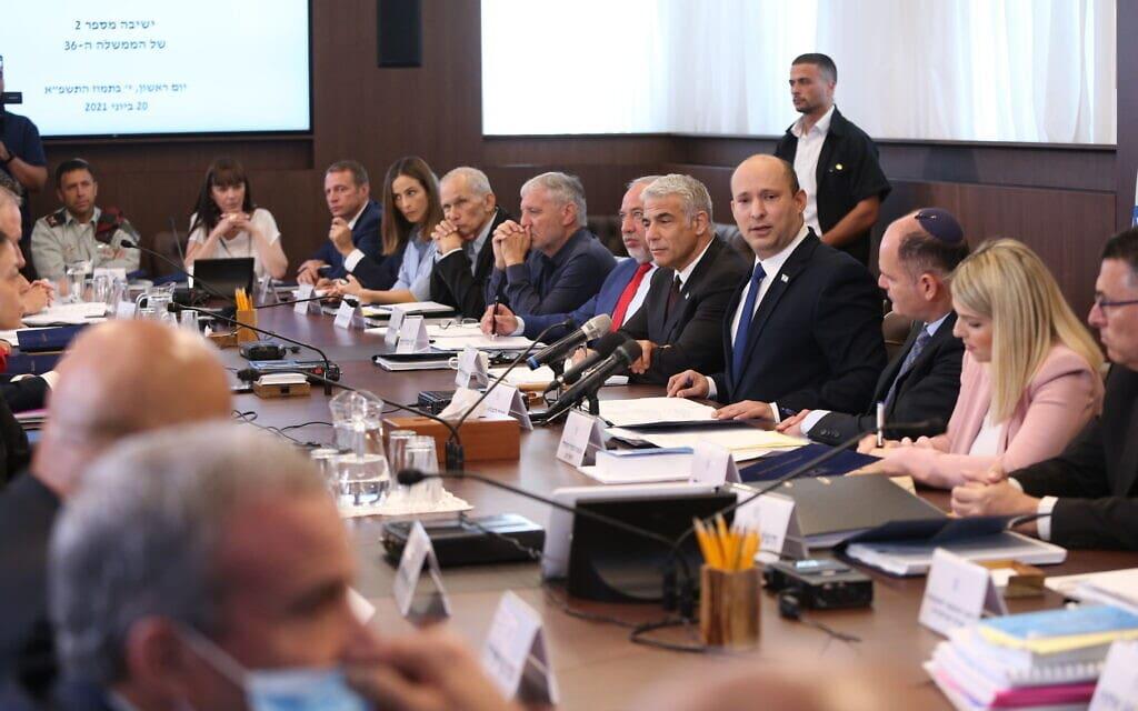 ישיבת הממשלה, 20 ביוני 2021 (צילום: Amit Shabi/POOL)