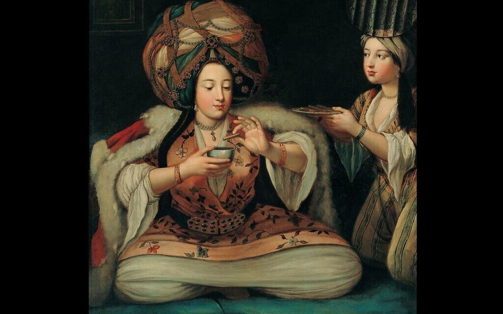 """""""נהנים מקפה"""", ציור של אמן לא ידוע ב-Pera Museum. הועלה לויקיפדיה על ידי  French School"""