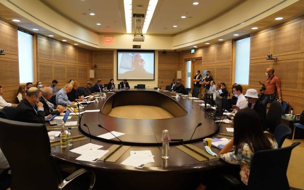 ישיבה של ועדת החוץ והביטחון של הכנסת, 7 ביוני 2021 (צילום: דני שם טוב, דוברות הכנסת)