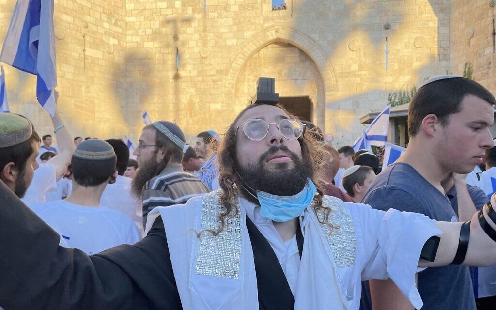 מצעד הדגלים בעיר העתיקה בירושלים, 15 ביוני 2021 (צילום: אמיר בן-דוד)