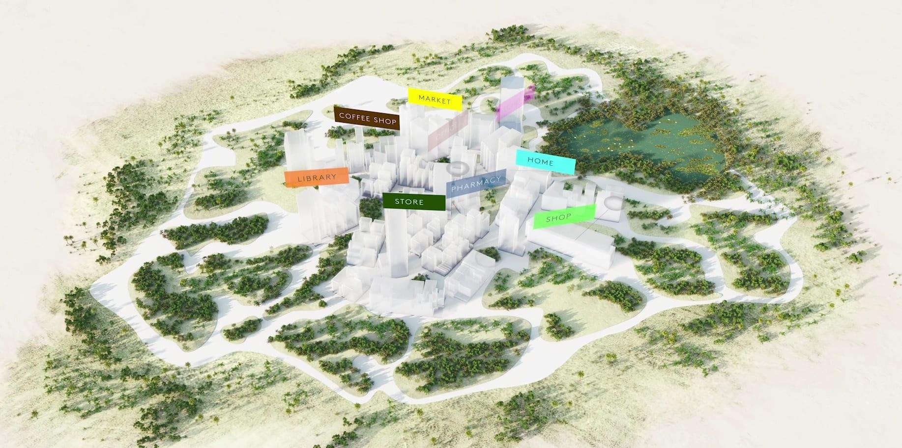 רעיון הפרוזדור האורבני בעיר ניאום (צילום: צילום מסך)