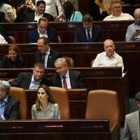 ספסלי האופוזיציה בכנסת ה-24, 21 ביוני 2021 (צילום: דוברות הכנסת - דני שם טוב)