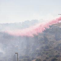 שריפה בצור הדסה, 4-5 ליוני 2021 (צילום: נתי שוחט, פלאש 90)