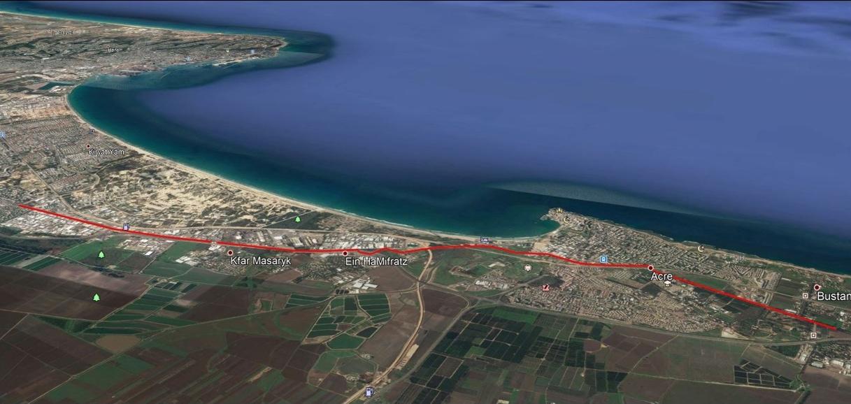 מסלול המטרונית המתוכנן (צילום: נתיבי ישראל)
