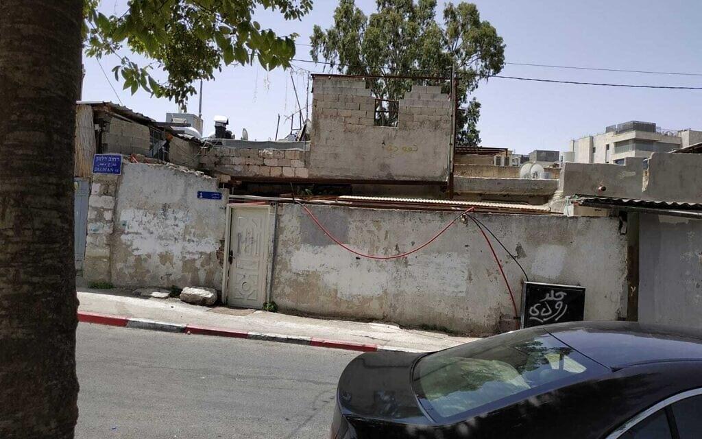 הנכס בשייח' ג'ראח השייך למשפחת בן יאיר, כיום (צילום: מיכאל בן יאיר)