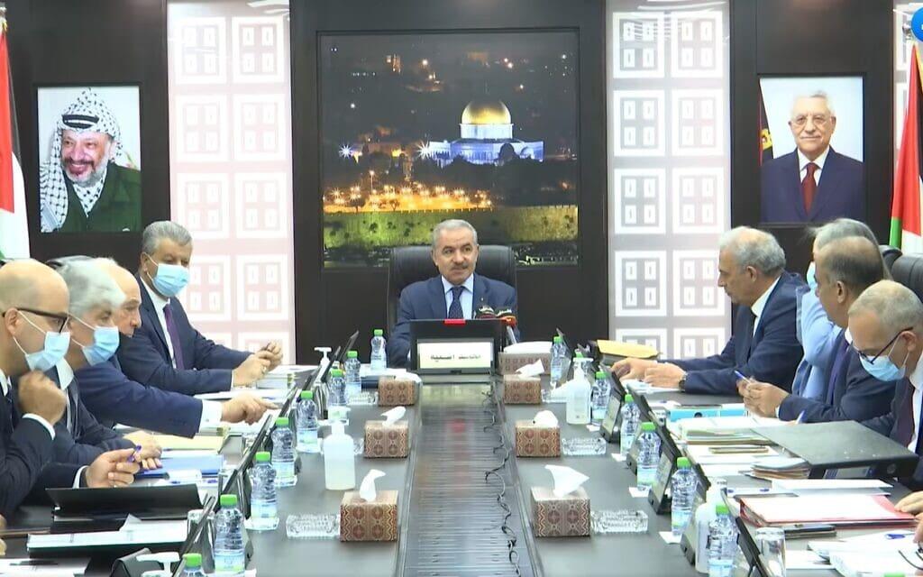 ראש ממשלת הרשות הפלסטינית, מוחמד שתייה. צילום מסך מסרטון וידאו בפייסבוק שלו