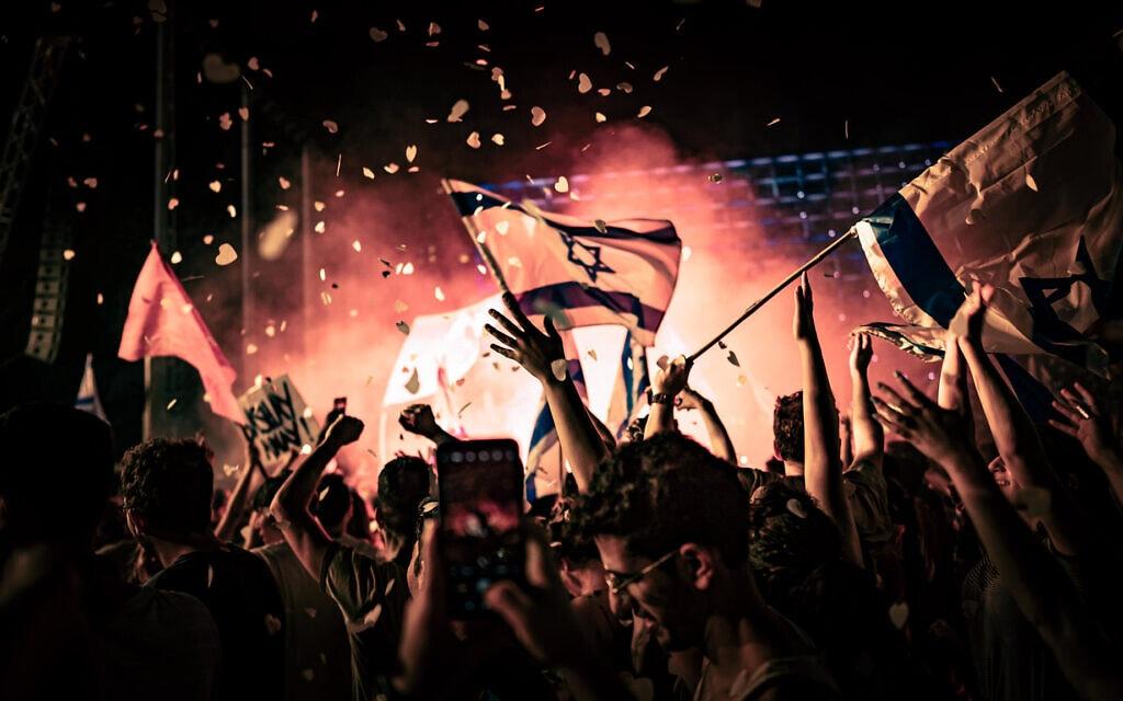 מסיבת הסיום של מחאת בלפור בירושלים, יוני 2021 (צילום: עידו רז)