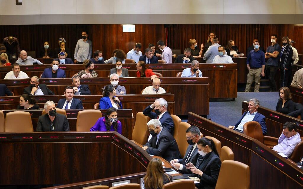 מליאת הכנסת, 5 ביולי 2021 (צילום: נועם מושקוביץ, דוברות הכנסת)