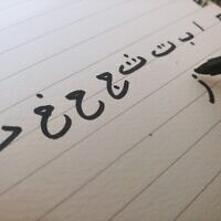 אותיות בערבית (צילום: תמר רכניץ)