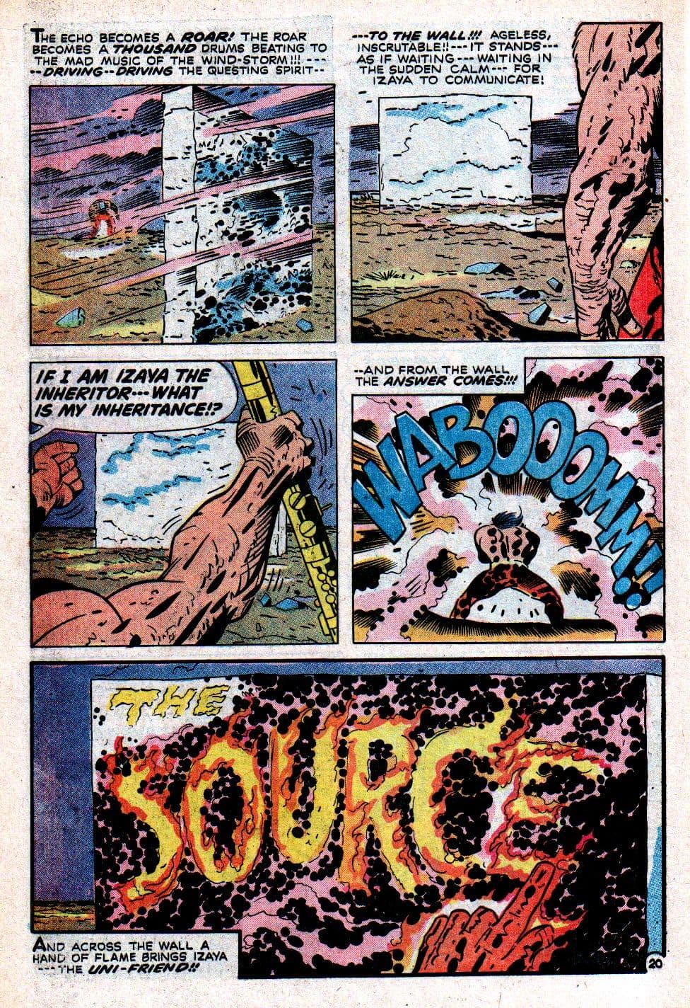 קומיקס של סופרמן שבו מופיעים הכותל ויד אלוהים – שכותבת על הכותל – בהתייחסות לספר דניאל (צילום: באדיבות רוי שוורץ)