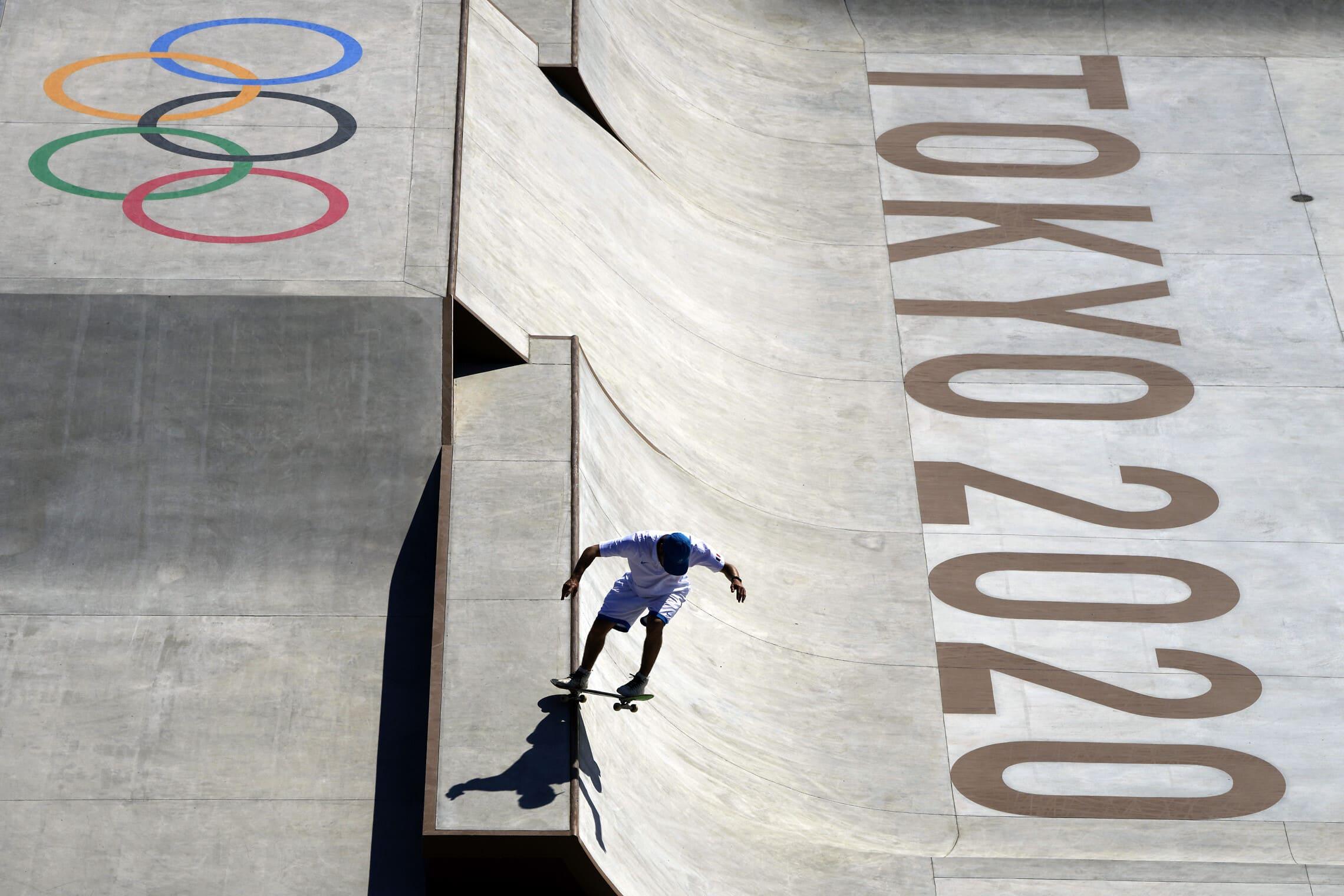 לראשונה בטוקיו, סקייטבורד הופך לענף אולימפי (צילום: AP Photo/Gregory Bull)