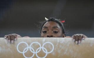 סימון ביילס בטוקיו (צילום: AP Photo/Natacha Pisarenko)