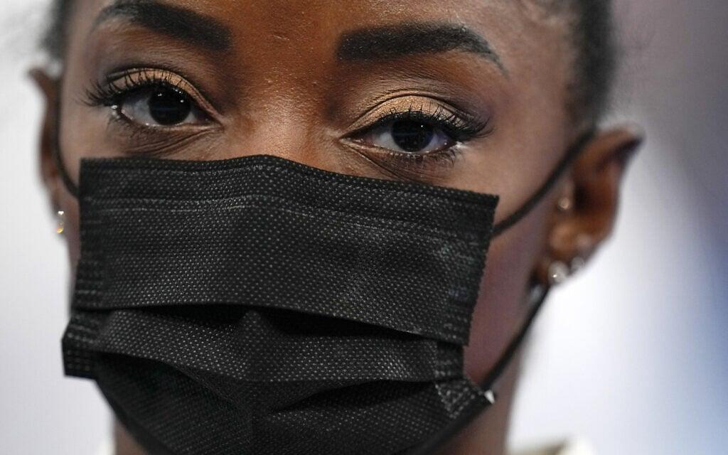 סימון בייל באולימפיאדת טוקיו (צילום: AP Photo/Gregory Bull)
