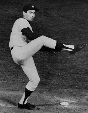 סנדי קופקס במשחק נגד שיקגו קאבס בלוס אנג'לס, 4 במאי 1964 (צילום: Harold P. Matosian, AP)