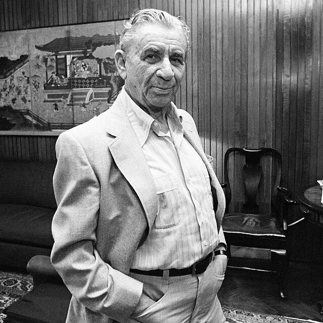מאיר לנסקי ב-1982 (צילום: AP Photo/Kathy Willens)