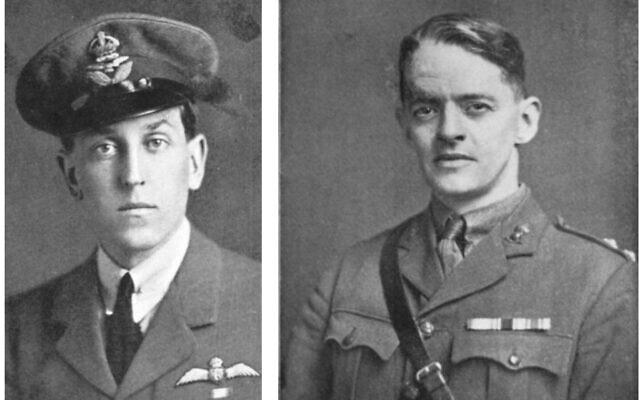 אליאס הנרי ג'ונס בערך ב-1915 (מימין) וסדריק ווטרס היל בערך ב-1915 (צילום: אליאס הנרי ג'ונס, הדרך לעין-דור, 1919)