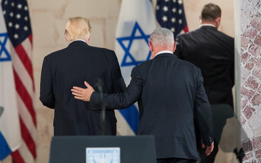 .דונלד טראמפ ובנימין נתניהו (צילום: Yonatan Sindel/Flash90)