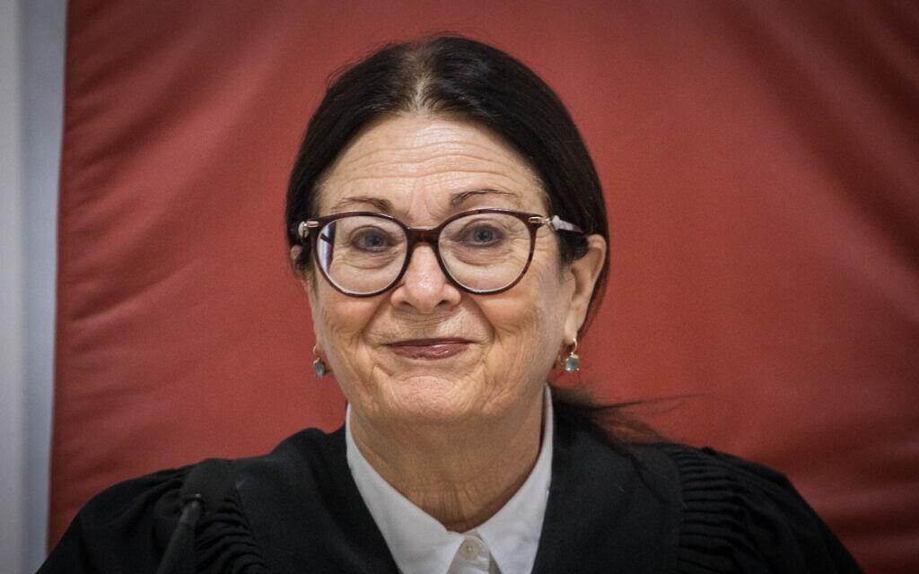 נשיאת בית המשפט העליון אסתר חיות (צילום: יונתן זינדל/פלאש90)