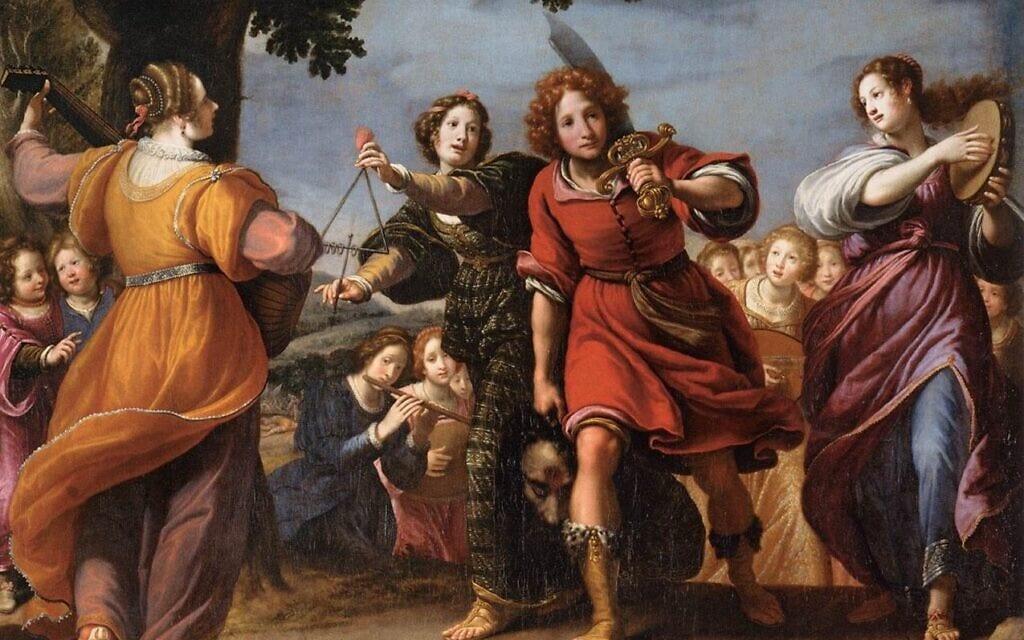 נצחון דוד, ציור של מתאו רוסלי, המאה ה-17