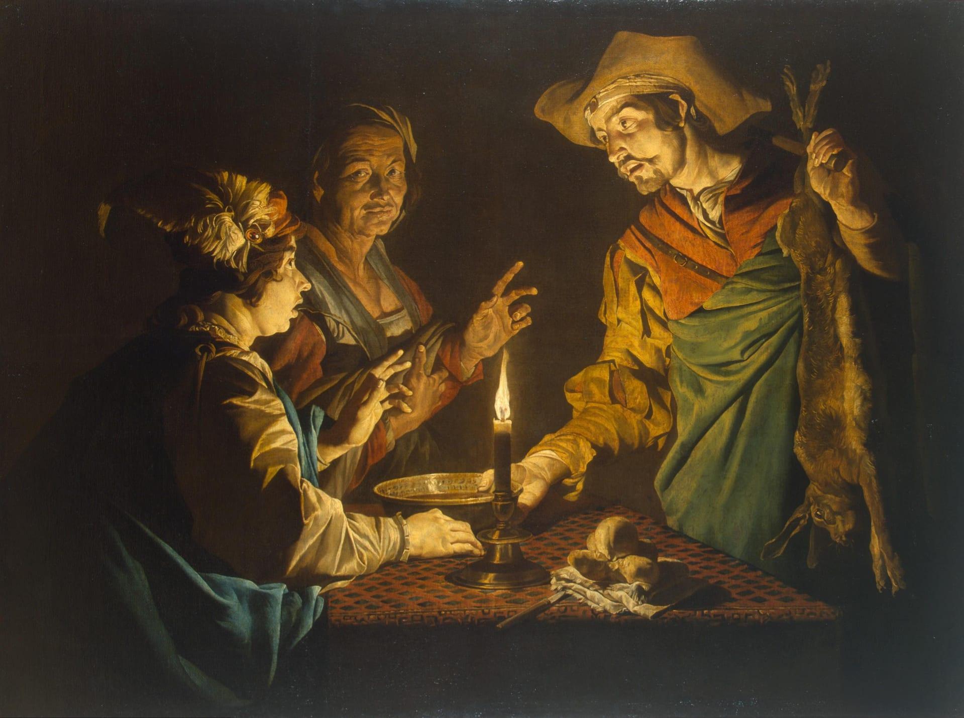 יעקב ועשו, ציור מהמאה ה-17 של הצייר ההולנדי מתיאס שטורם