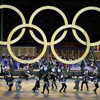 טקס הפתיחה לאולימפיאדת טוקיו, 23.7.2021 (צילום: AP Photo/Kirsty Wigglesworth)