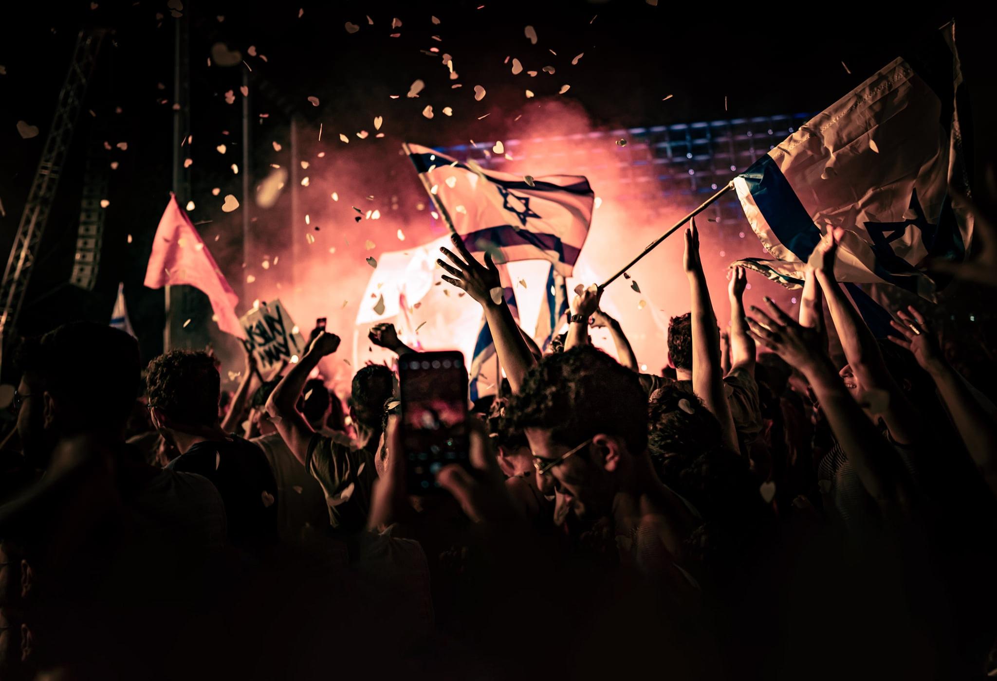 ido-מסיבת הסיום של מחאת בלפור בירושלים, יוני 2021 (צילום: עידו רז)