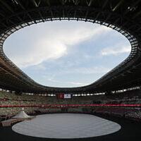 החלל שבו התקיים טקס הפתיחה של אולימפיאדת טוקיו, 23.7.2021 (צילום: AP Photo/David J. Phillip)