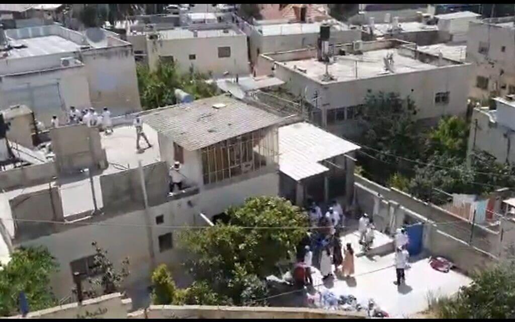 הבית שנמכר בסילוואן (צילום מסך מסרטון שהעלה יוני בן מנחם)